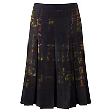 Buy Jigsaw Neon Check Print Pleat Skirt, Multi Online at johnlewis.com