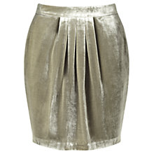 Buy Jigsaw Silk Velvet Pleat Skirt Online at johnlewis.com