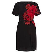 Buy Hobbs Rose Print Dress, Black/Multi Online at johnlewis.com