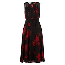 Buy Hobbs Huxley Rose Dress, Black/Multi Online at johnlewis.com
