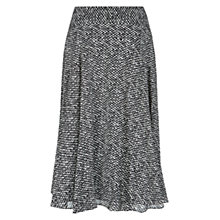Buy Hobbs Tweed Silk Skirt, Black/Ivory Online at johnlewis.com
