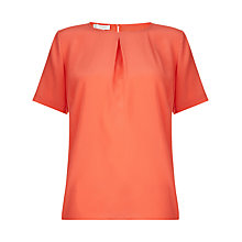 Buy Hobbs Eaton Silk Top, Pink Grapefruit Online at johnlewis.com