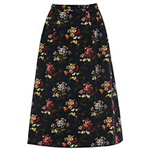 Buy Oasis Primrose Midi Skirt, Multi Black Online at johnlewis.com