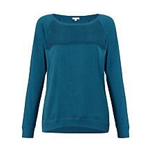 Buy Jigsaw Silk Front Raglan Top Online at johnlewis.com