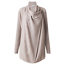 Buy Jigsaw Rice Stitch Tab Cardigan, Stone Online at johnlewis.com