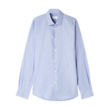 Buy Jigsaw End on End Long Sleeve Shirt, Chambray Online at johnlewis.com