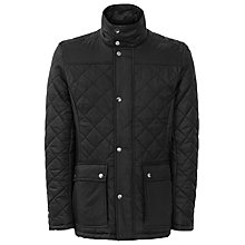 Buy Reiss Cale Quilted Jacket, Black Online at johnlewis.com