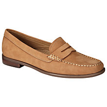 Buy John Lewis Penny Nubuck Loafers, Tan Online at johnlewis.com