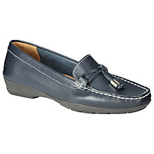 Buy John Lewis Moscow Leather Loafers, Navy Online at johnlewis.com