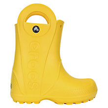Buy Crocs Kids' Wellingtons, Canary Yellow Online at johnlewis.com