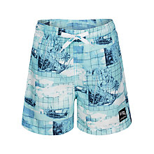 Buy Platypus Boys' Digital Print Palm Tree Swim Shorts, Blue Online at johnlewis.com