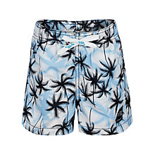 Buy Platypus Boys' Palm Tree Shorts, Blue Online at johnlewis.com