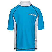 Buy Platypus Boys' Short Sleeve Rash Vest, Turquoise Online at johnlewis.com