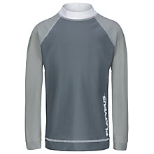 Buy Platypus Boys' Long Sleeve Rash Vest, Grey Online at johnlewis.com