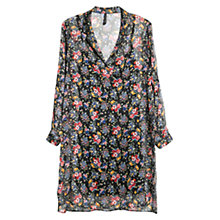 Buy Mango Floral Chiffon Dress, Black Online at johnlewis.com