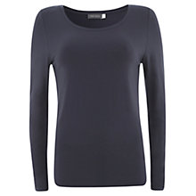 Buy Mint Velvet Model Jersey Top, Blue Online at johnlewis.com