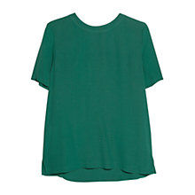 Buy Mango Textured Blouse, Medium Green Online at johnlewis.com