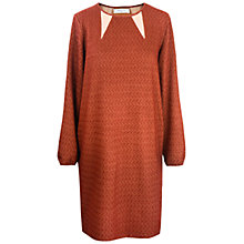 Buy Paisie Textured Dress, Burgundy/Cream Online at johnlewis.com