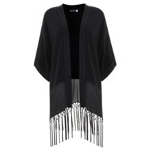 Buy Mint Velvet Fringe Kimono, Black Online at johnlewis.com