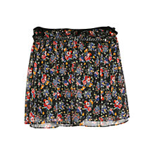 Buy Mango Floral Printed Chiffon Skirt, Black Online at johnlewis.com