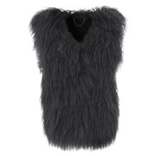 Buy Mint Velvet Mongolian Gilet, Charcoal Online at johnlewis.com