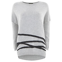 Buy Mint Velvet Blurred Jumper, Silver/Grey Online at johnlewis.com