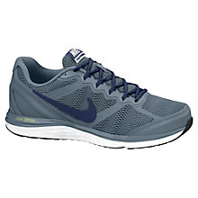 Buy Nike Dual Fusion 3 Men's Running Shoes, Magnet Grey/Mid Navy Online at johnlewis.com