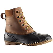Buy Sorel Cheyanne Leather Men's Snow Boots, Brown Online at johnlewis.com