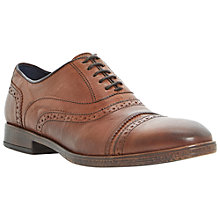 Buy Dune Bosworth Toecap Brogue Shoes, Tan Online at johnlewis.com