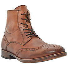 Buy Dune Cobbler Leather Brogue Boots, Tan Online at johnlewis.com
