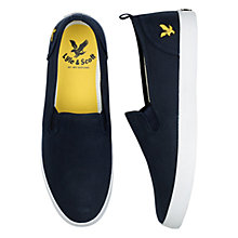 Buy Lyle & Scott Cally Herringbone Slip-On Plimsolls, New Navy Online at johnlewis.com