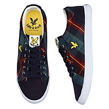 Buy Lyle & Scott Halket Poplin Tartan Trainers, New Navy Online at johnlewis.com
