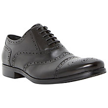 Buy Dune Ranch Leather Brogue Derby Shoes, Black Online at johnlewis.com