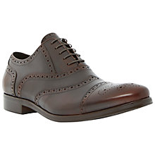 Buy Dune Ranch Leather Brogue Derby Shoes, Brown Online at johnlewis.com