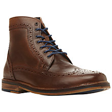 Buy Bertie Cambridge Heath Leather Brogue Ankle Boots, Brown Online at johnlewis.com