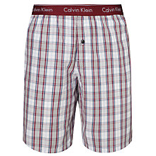 Buy Calvin Klein Plaid Woven Lounge Shorts, Purple Online at johnlewis.com