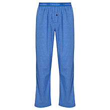 Buy Calvin Klein Woven Chevron Lounge Pants, Cobalt Blue Online at johnlewis.com