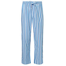 Buy Calvin Klein Woven Key Lounge Pants, White/Blue Online at johnlewis.com
