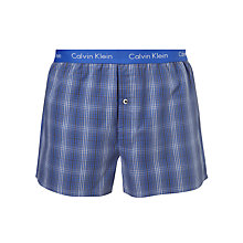 Buy Calvin Klein Underwear Jamie Plaid Check Boxer Shorts, Cobalt Online at johnlewis.com