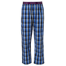 Buy Calvin Klein Woven Batik Plaid Check Lounge Pants, Blue Online at johnlewis.com