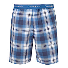 Buy Calvin Klein Double Gauze Plaid Check Lounge Shorts, Blue Online at johnlewis.com