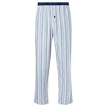 Buy Calvin Klein Woven Stripe Lounge Pants, White/Blue Online at johnlewis.com