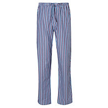 Buy Calvin Klein Woven Key Stripe Lounge Pants, White/Blue Online at johnlewis.com