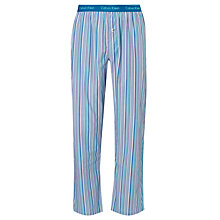 Buy Calvin Klein Goa Stripe Woven Lounge Pants, Blue/Purple Online at johnlewis.com