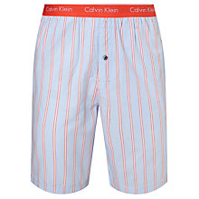 Buy Calvin Klein Woven Stripe Lounge Shorts, Blue/Orange Online at johnlewis.com