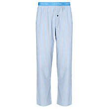 Buy Calvin Klein Woven Tomas Stripe Lounge Pants, Blue/Orange Online at johnlewis.com