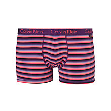 Buy Calvin Klein Underwear CK One Stripe Trunks, Purple Online at johnlewis.com