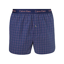 Buy Calvin Klein Underwear Woven Highgate Plaid Check Boxer Shorts, Purple Online at johnlewis.com