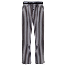 Buy Calvin Klein Woven Emery Stripe Lounge Pants, Black Online at johnlewis.com