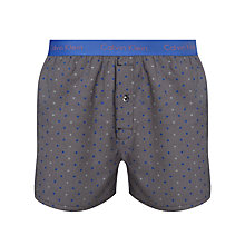 Buy Calvin Klein Underwear Dot Woven Boxers, Grey Online at johnlewis.com